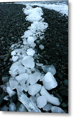 Metal Print featuring the photograph Ice Pebbles by Amanda Stadther