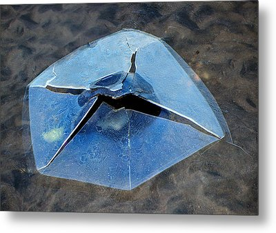 Ice Penetration Metal Print by Gary Slawsky