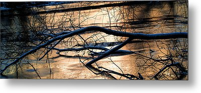 Ice Reflection  Leif Sohlman Metal Print by Leif Sohlman