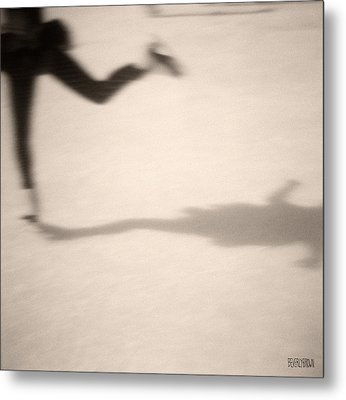 Ice Skater Metal Print by Beverly Brown