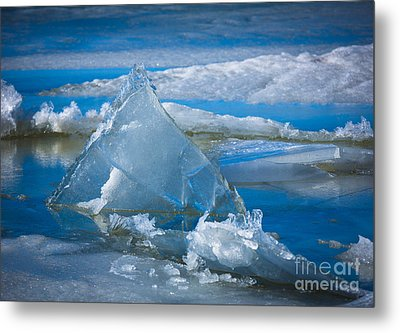 Ice Triangle Metal Print by Inge Johnsson