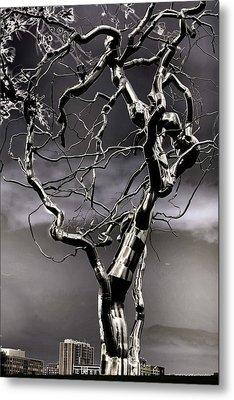 Ice Veins In The Sky Metal Print by Joenne Hartley