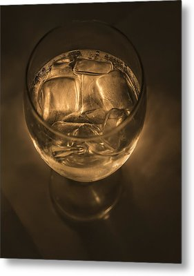 Ice Water By Candle Light Metal Print by Angela A Stanton