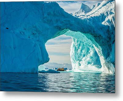 Iceberg Arch - Greenland Travel Photograph Metal Print by Duane Miller