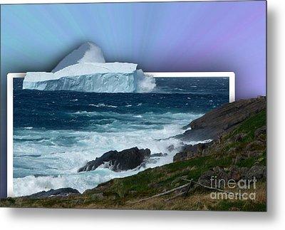 Iceberg Escape Metal Print by Barbara Griffin