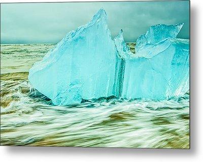 Iceberg Flow Metal Print