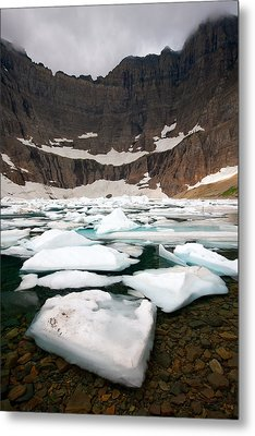 Metal Print featuring the photograph Iceberg Lake by Aaron Whittemore