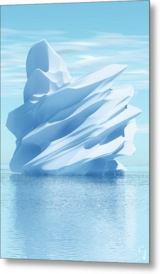 Iceberg Metal Print by Matt Lindley