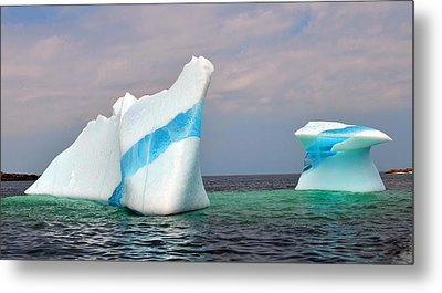 Iceberg Off The Coast Of Newfoundland Metal Print by Lisa Phillips