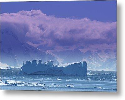 Iceberg Shipwreck Metal Print by DerekTXFactor Creative