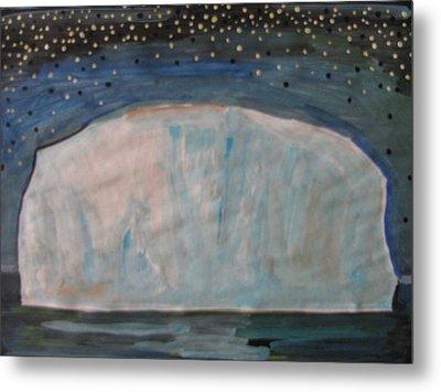 Metal Print featuring the painting Iceberg by Vikram Singh