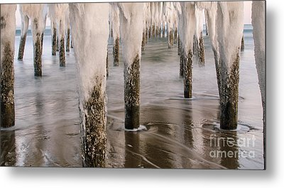 Iced Metal Print by Paul Noble