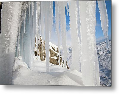 Icefall Metal Print by Ashley Cooper