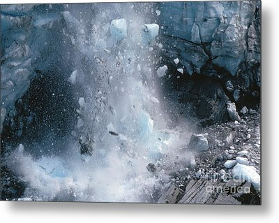 Icefall Metal Print