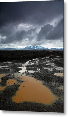 Iceland After The Rain Metal Print