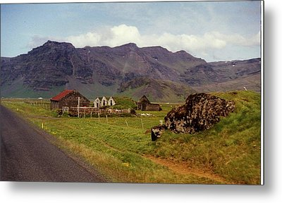 Metal Print featuring the photograph Icelandic  Cottage by Debra Kaye McKrill