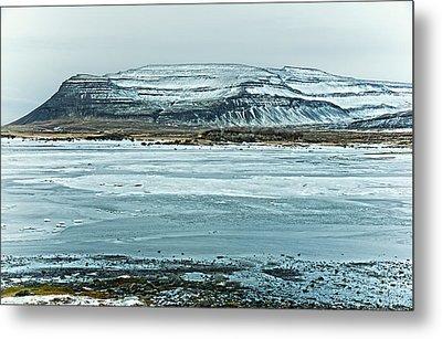Icelandic Winter Landscape Metal Print by Mike Santis