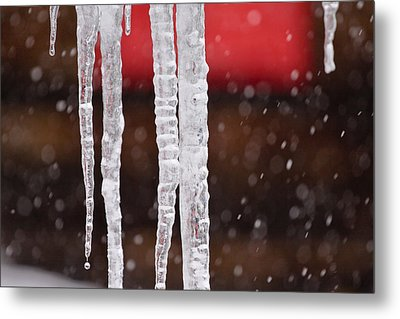Icicles Metal Print by Denice Breaux