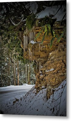Icicles In Wv Metal Print
