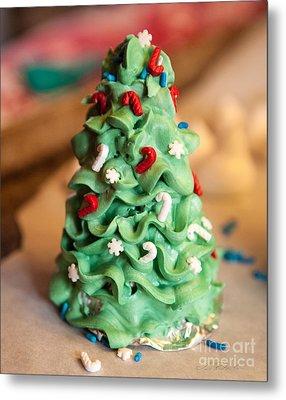 Icing Christmas Tree Metal Print by Iris Richardson