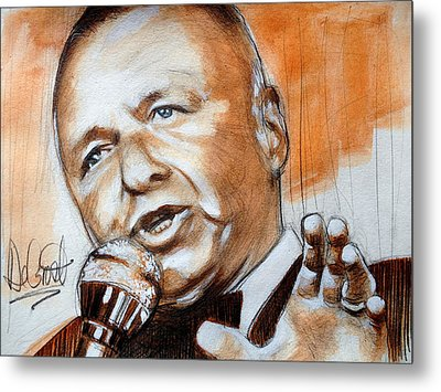 Icon Frank Sinatra Metal Print by Gregory DeGroat
