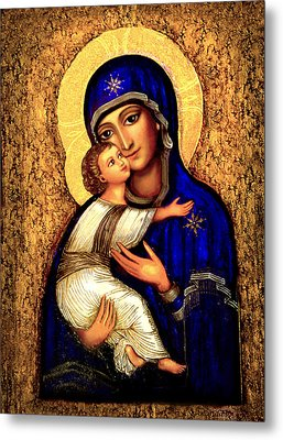 Icon Madonna Metal Print by Ananda Vdovic