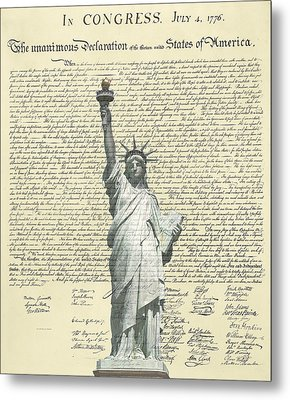 Icon Of Freedom Metal Print by Charles Beeler