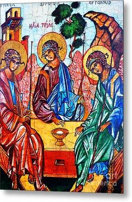 Icon Of The Holy Trinity Metal Print by Ryszard Sleczka