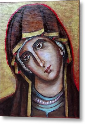 Icon Of Virgin Mary Metal Print by Irena Mohr