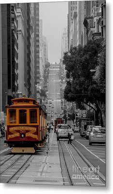 Iconic Cable Car Metal Print