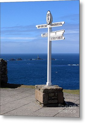 Metal Print featuring the photograph Iconic Lands End England by Terri Waters