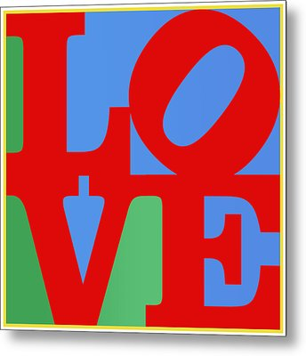 Iconic Love Metal Print by Paulette B Wright