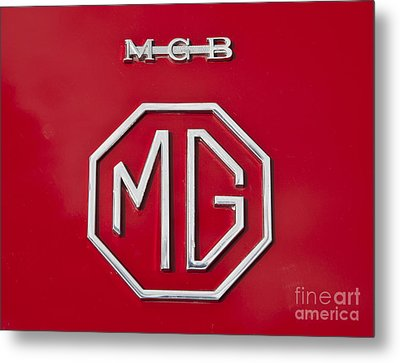 Iconic Mgb Badge Metal Print