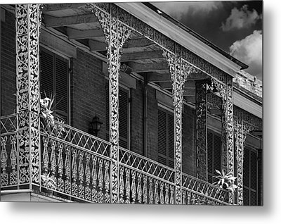 Iconic New Orleans Wrought Iron Balcony Metal Print by Christine Till