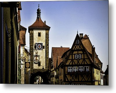 Iconic Rothenburg Metal Print by Joanna Madloch