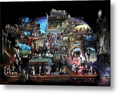 Icons Of History And Entertainment Metal Print by Ylli Haruni