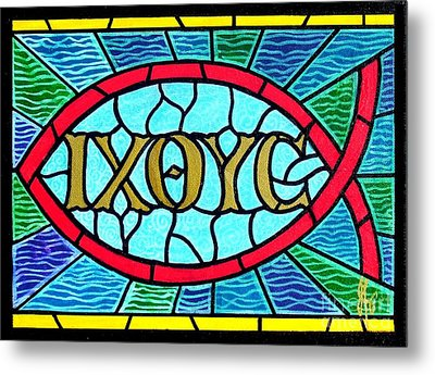 Icthus Sign Of The Fish Metal Print