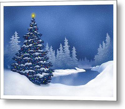 Icy Blue Metal Print by Scott Ross