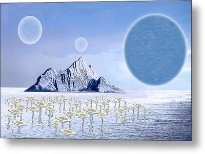 Icy Desert Metal Print by Piero Lucia