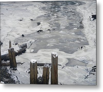 Icy Entrance  Metal Print