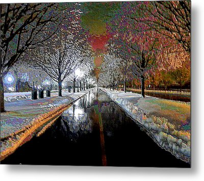 Icy Entrance To Keeneland Metal Print by Christopher Hignite