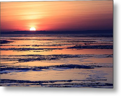 Metal Print featuring the photograph Icy Sunrise by Jennifer Casey