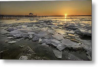 Icy Sunrise Metal Print by Michael Donahue