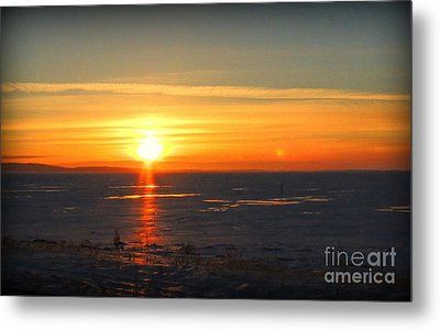 Icy Sunset Metal Print