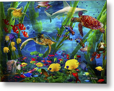 I'd Like To Be Under The Sea...... Metal Print