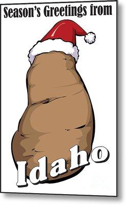 Idaho Christmas Metal Print
