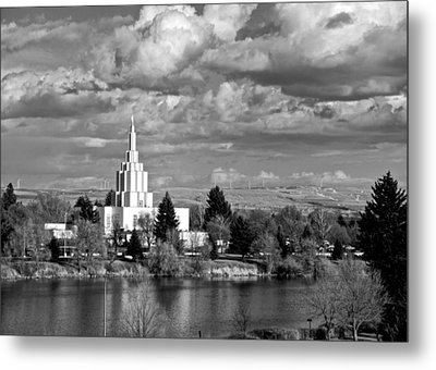 Idaho Falls Temple Metal Print by Eric Tressler