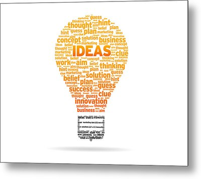 Ideas Metal Print by Aged Pixel