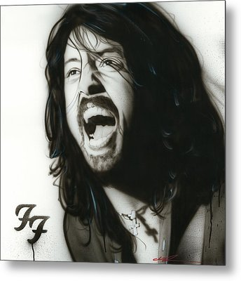 Dave Grohl - ' If Everything Could Ever Feel This Real Forever ' Metal Print