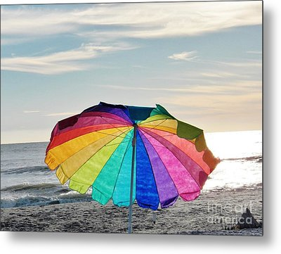 If Life Were Just A Rainbow All The Time Metal Print by Judy Via-Wolff